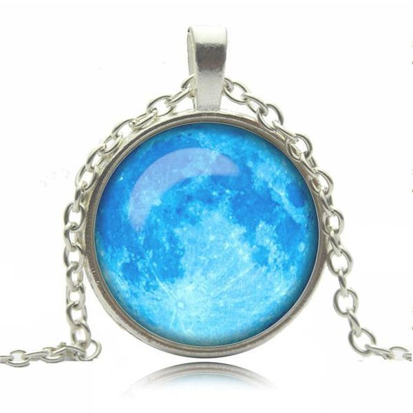 Biżuteria łańcuszek przywieszka niebieski  w Schmuck na DaWanda.com