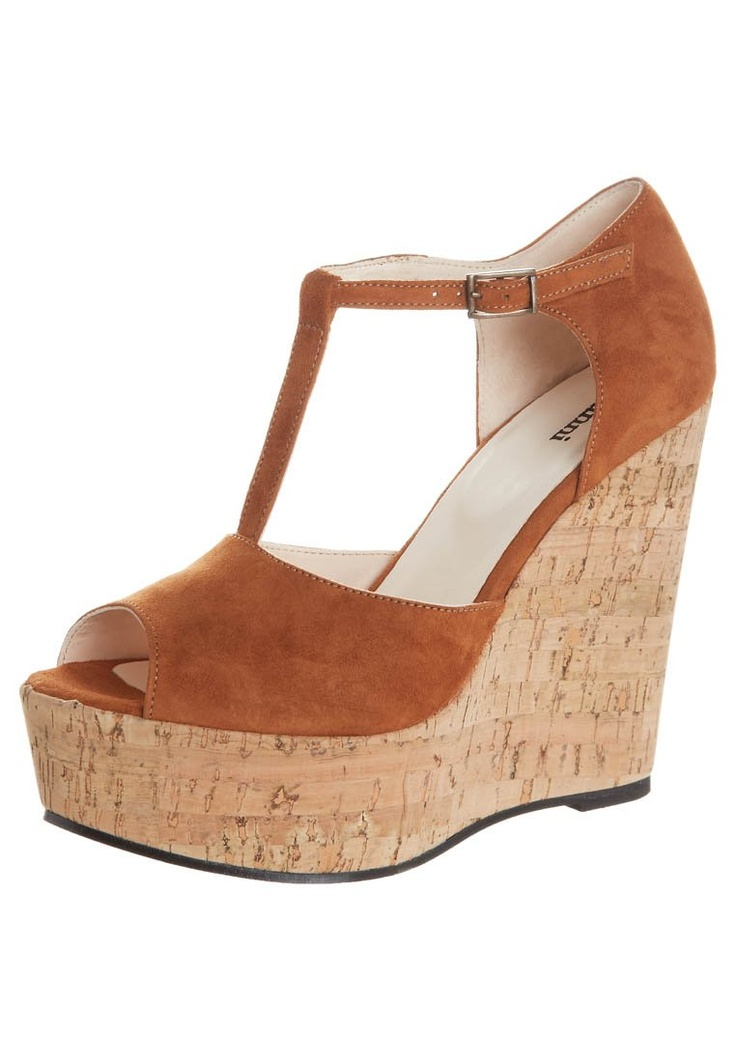 Ganni - FLORA - Sandalen met hoge hak - Bruin