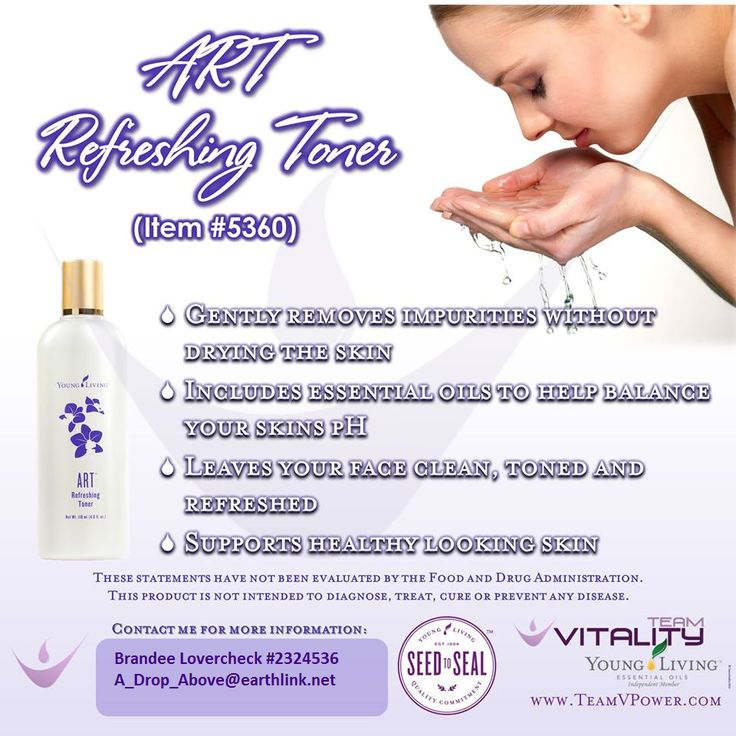 ART Refreshing Toner by Young Living - For more info or to order, check out my Facebook page at A Drop Above The Rest