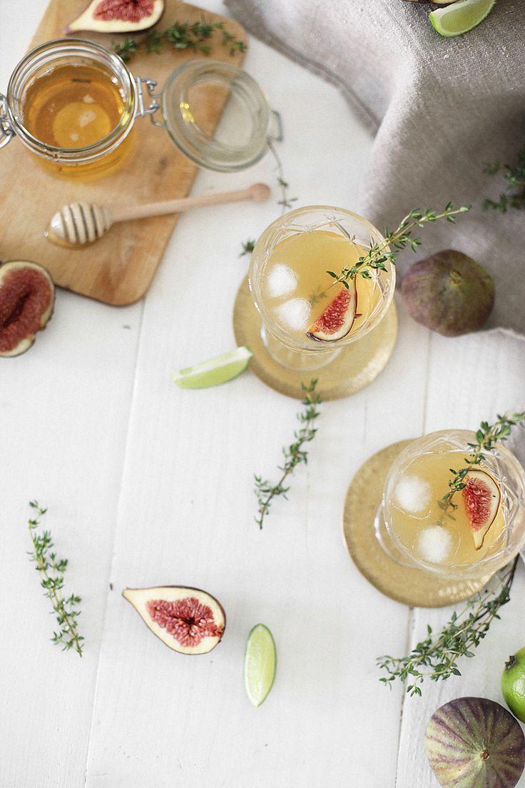 Recipe: End of Summer Canchánchara Bowl - Dark Rum Bowl with Figs and Honey - teetharejade.com