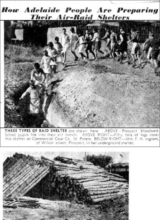 News (Adelaide, SA : 1923 - 1954), Friday 27 February 1942, page 3, Air Raid Shelters in Prospect