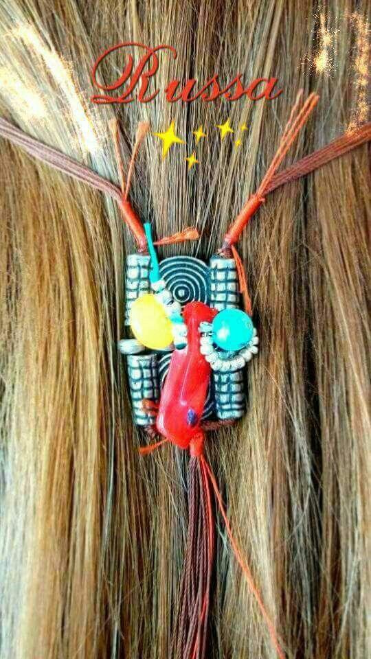 Hand made hair jewelry :-) #russa #bijoux #boho #hair