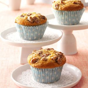 Cheesecake Pumpkin Muffins Recipe from Taste of Home -- shared by Lisa Powelson of Scott City, Kansas