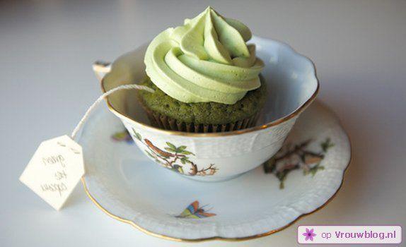 Recept voor groene thee cupcakes