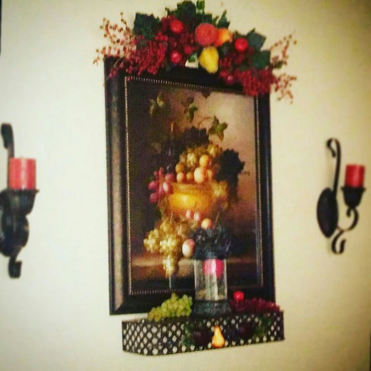 House Decorations, Home Interiors, Wall Ideas, Mason Jars, Living Room  Ideas, Villa, Wall Decor, Fruit, Christmas Deco