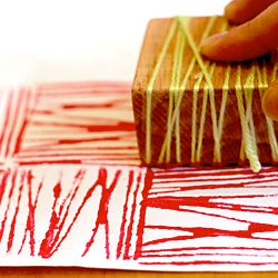 Introduce various print-making activities to kids!