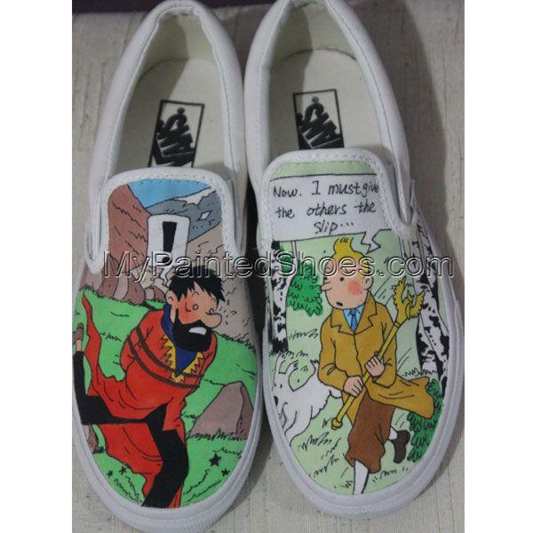 Custom Painted Vans Slip ons Custom Vans Shoes for Men