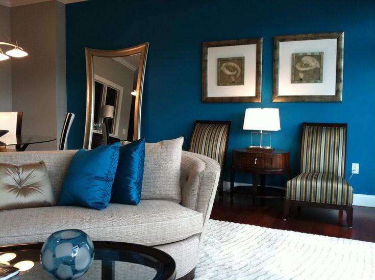 Benjamin Moore Fairmont Green paint   Cozy living room