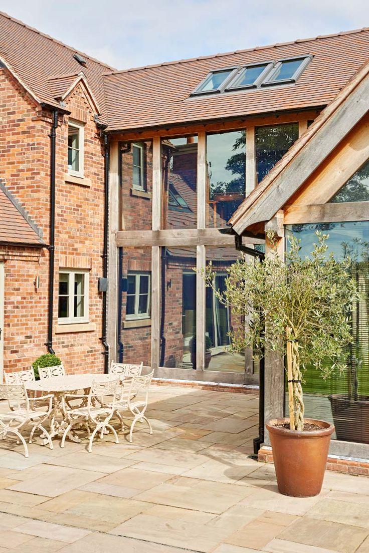 Oak framed house from Welsh Oak Frame #oakframe #self-build #oakhomes #oakframedhouse