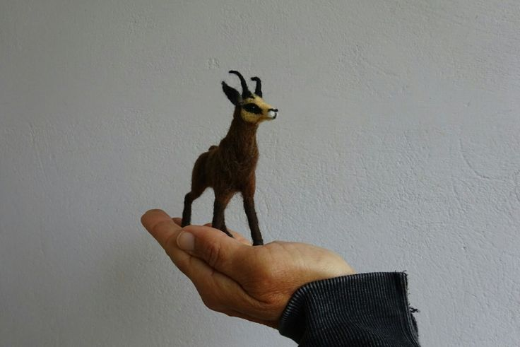 Needle felted wild goat (protected -Pindos Greece) - by Elina Detsi