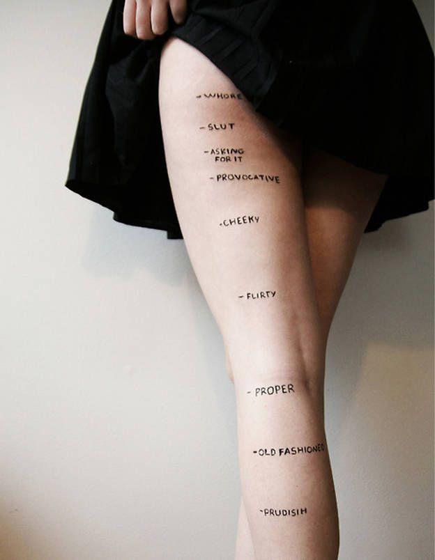 Une photographe canadienne dénonce le sexisme ordinaire. la photographe canadienne Rosea Lake apporte une réponse surprenante, bien loin des diktats de la mode. Sur son Tumblr, l'étudiante en design de 18 ans a posté une photo qui montre que, peu importe le nombre de centimètres, la jupe provoque toujours des commentaires misogynes.