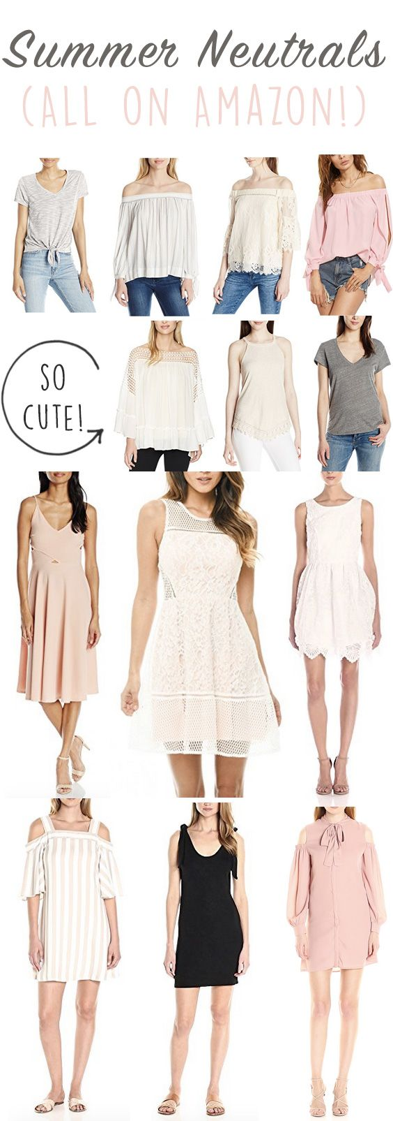 Summer Neutrals on Amazon! The best summer neutral dresses that will have you stylish all year! These soft color palettes will complete your outfits & have you looking chic. Chic summer neutrals are always in style & perfect for starting a capsule wardrobe. Classy neutral tops, stylish dresses & the best neutrals on Amazon!