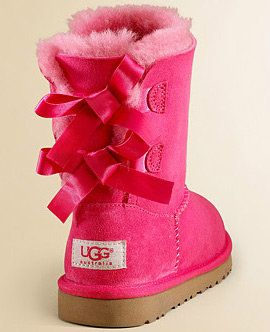 Pink Uggs with bows on back. These are a must for my future girls!