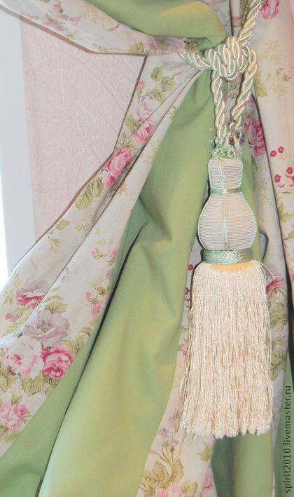 """Шторы из льна """"Натали"""" - мятный,шторы,шторы для спальни,шторы для гостиной"""
