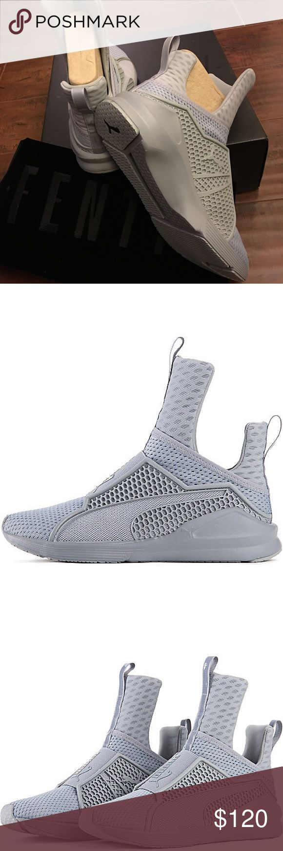 FENTY PUMA TRAINER BY RIHANNA Rihanna PUMA FIERCE  Slip-on style with pull tabs at tongue for easy on and off. Mesh and caging overlays for optimal lockdown, stability and support. Exaggerated heel thickness and medial and lateral sides for greater stability. EVA cushioned insole. Pivot points at heel and toe for greater movement. Synthetic and textile upper/textile lining/synthetic sole. Puma Shoes Athletic Shoes