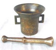 Massive Heavyweight Bronze Mortar & Pestle