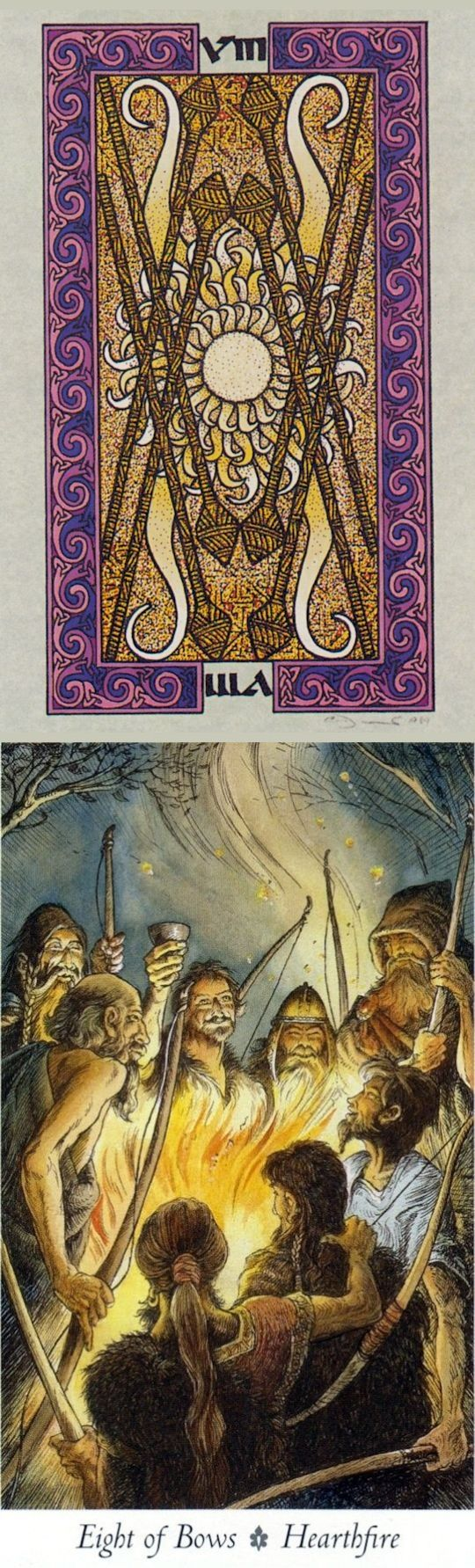 Eight of Wands: things manifesting quickly and slowing down (reverse). Celtic Tarot deck and Wild Wood Tarot deck: tarot cards online, tarot interpretation and free on line tarot. Best 2017 psychic readings medium and cartomancy meanings. #halloween #intuition #trickortreat #majorarcana #highpriestess #tarotspread