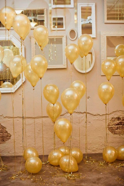 Party decor with balloons and mirrors.  The mirrors would be neat if talking about how we look on the outside compared to what's on the inside.