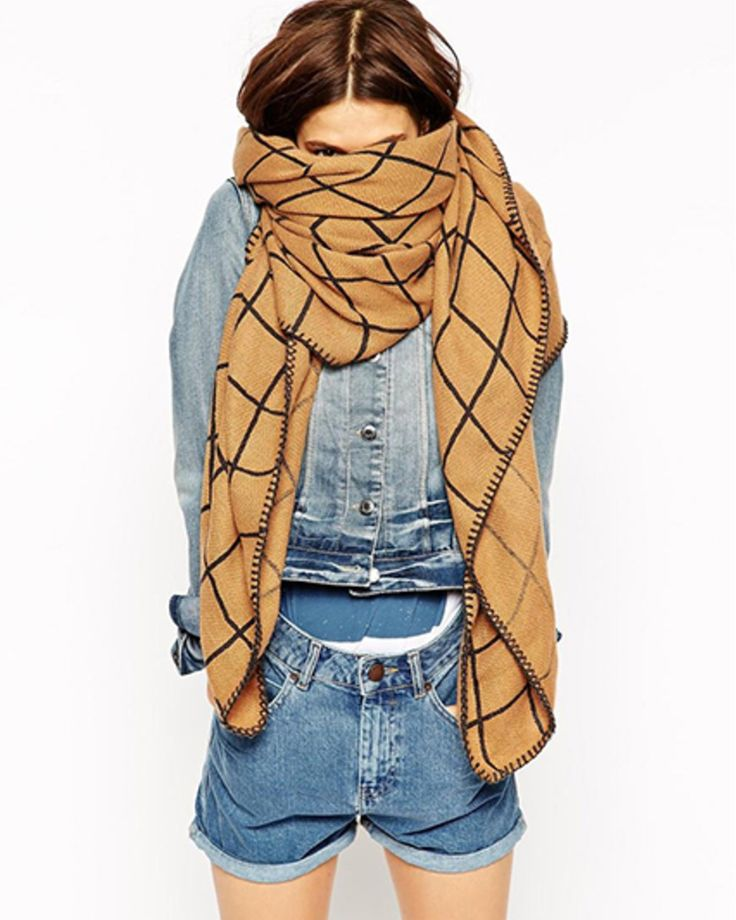 ASOS Oversized Scarf In Grid Check | LuckyShops