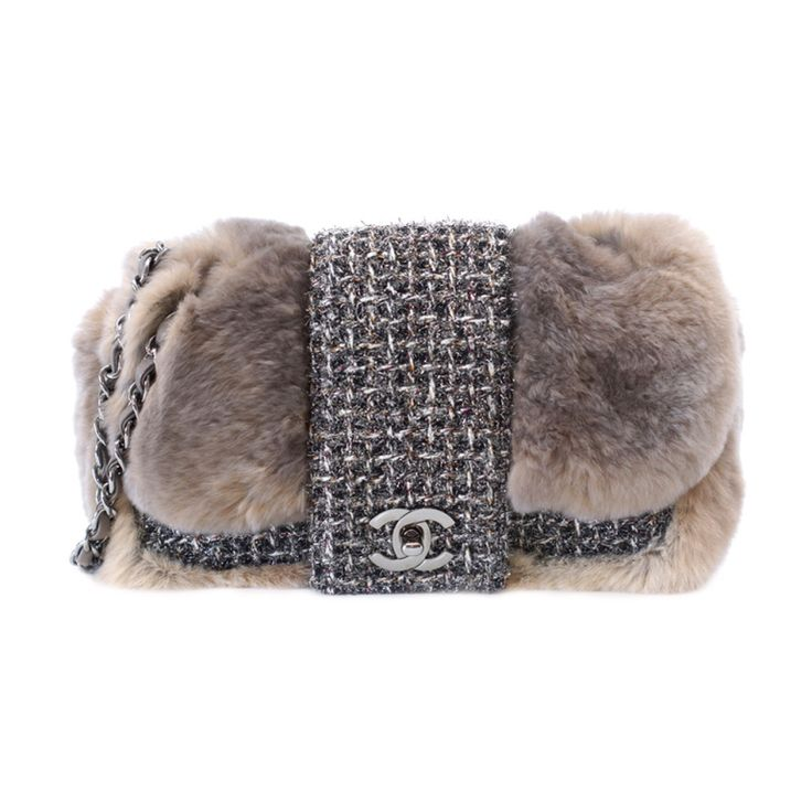 CHANEL bag taupe fantasy tweed Limited Edition