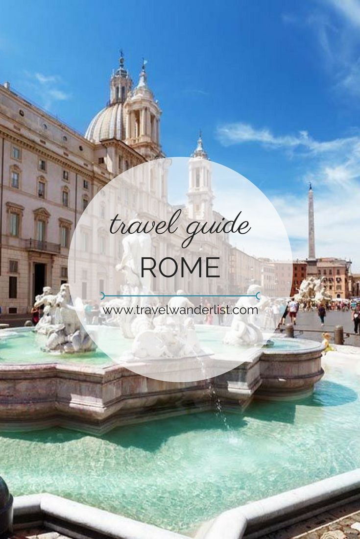 Travel Wanderlist - Best things to do in Rome - places to visit and travel tips