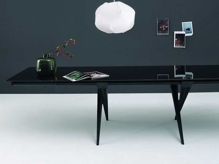 Desalto TENDER. 170x85 200x85 200x100. Cristal Transparente, Extra Claro  Acidado, Negro Brillante
