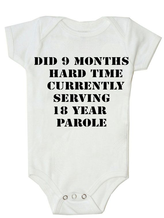 Funny Baby Onesie Funny Bodysuit 9 Months Hard by FunnyBabyOnesie, $14.99