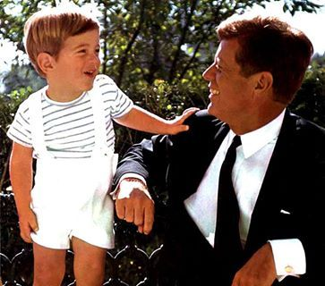 JFK and his son. John F. Kennedy Jr. (November 25, 1960 - July 16, 1999) died in a plane crash 14 years ago today.