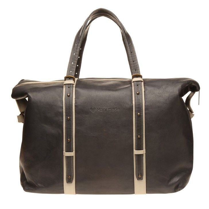 MARY MADE | Anthracite Travel Bag with Bone Trim - Baby Travel - kinderelo.co.za