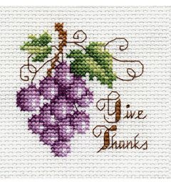 "Bucilla ® Counted Cross Stitch - Beginner Stitchery - Mini - Give Thanks    Size: 2"" x 2"""