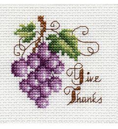 "Bucilla ® Counted Cross Stitch - Beginner Stitchery - Mini - Give Thanks    Size: 2"" x 2"""