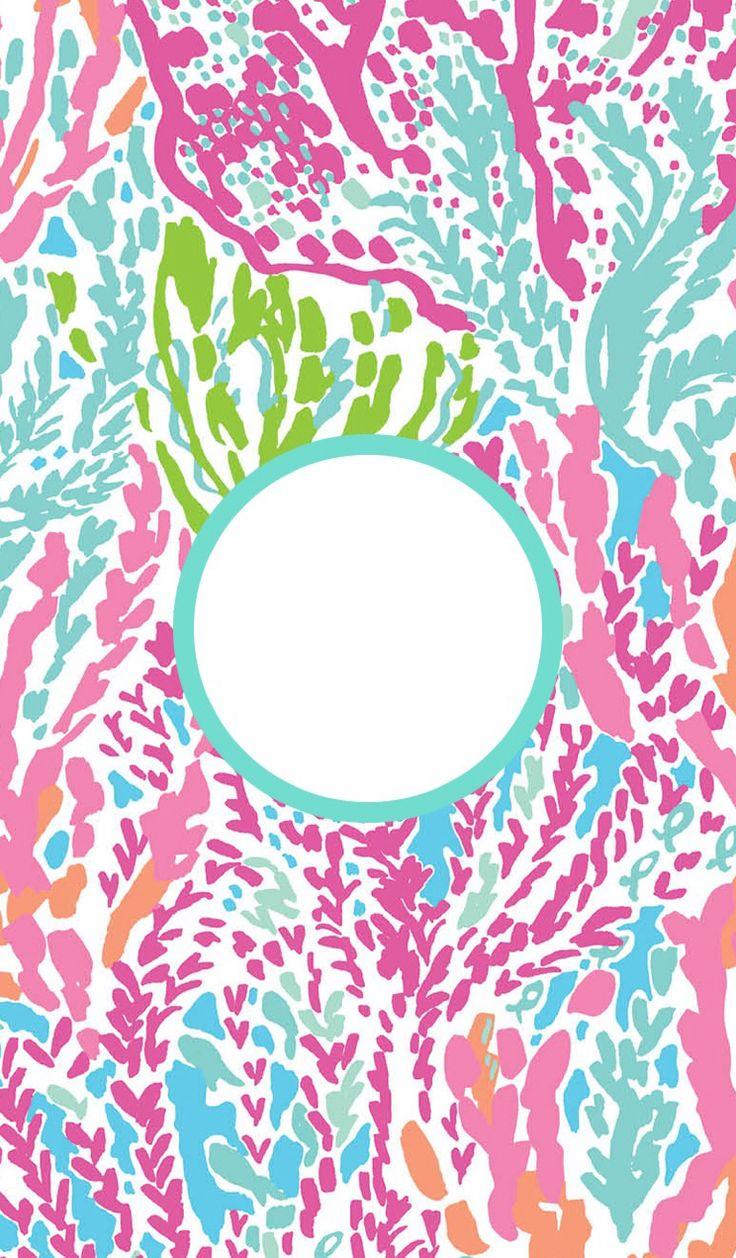 Lilly Pulitzer./ pink Serenade floral desktop Wallpaper ...