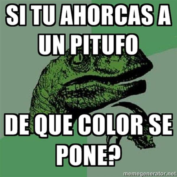Filosoraptor y Los Pitufos.