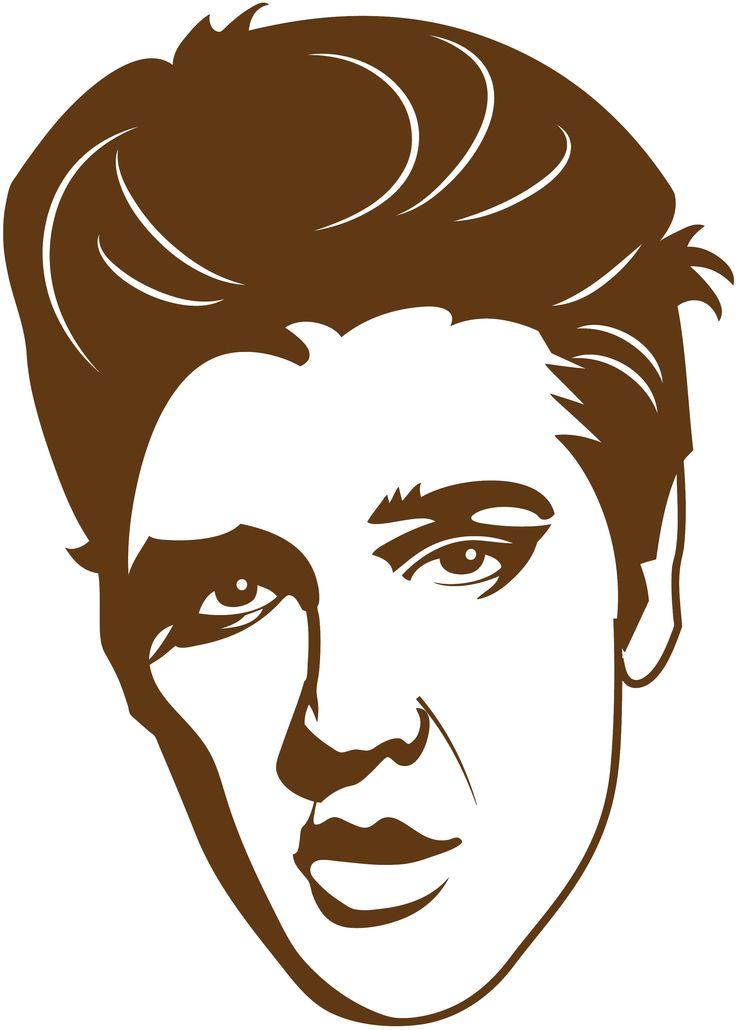 Sticker Elvis Presley   Dimensions 29 cm x 20 cm Tarif 8.00 € frais de port gratuit