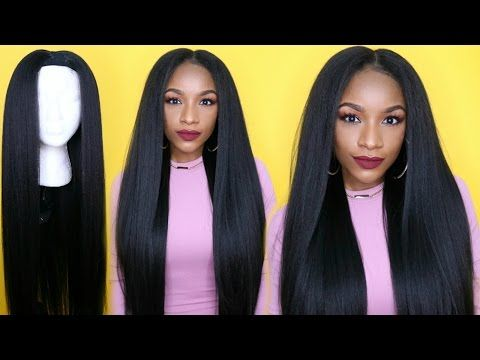 Kinky Straight Hair Under $25 !! How to Make a Wig in 30 Minutes - https://blackhairinformation.com/video-gallery/kinky-straight-hair-25-make-wig-30-minutes/