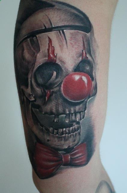 16 best clowns images on pinterest tattoo art art for Joker skull tattoo