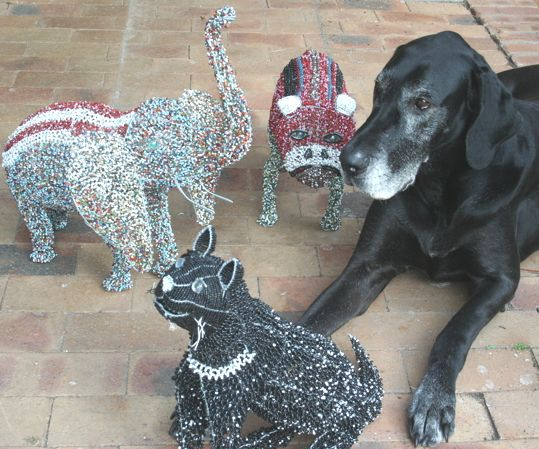 Zsa Zsa and the beaded hand crafted animal family.