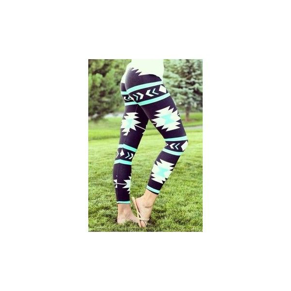 Pants: aztec leggings aztec leggings ❤ liked on Polyvore featuring pants, leggings, aztec leggings, aztec-print pants, green trousers, green pants and aztec pants