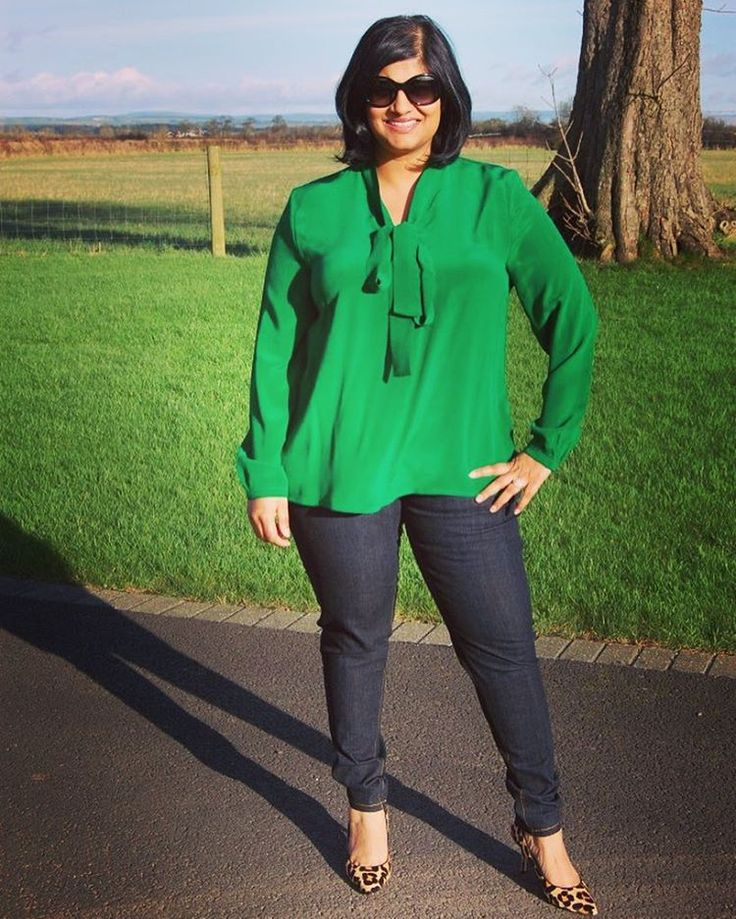 Pussy Bow Blouse sewing pattern by Sew Over It. Stunning in green!