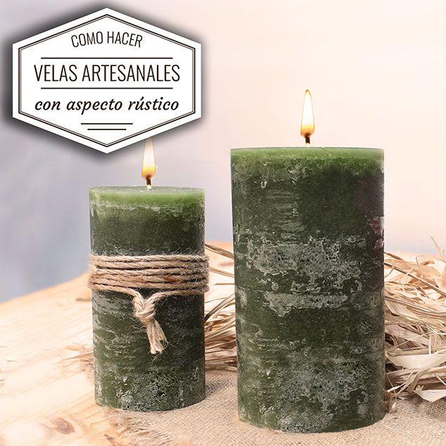 Aprende cómo hacer velas artesanas con aspecto rústico. Conoce paso a paso cómo puedes crear unos velones rústicos DIY para decorar tu hogar.