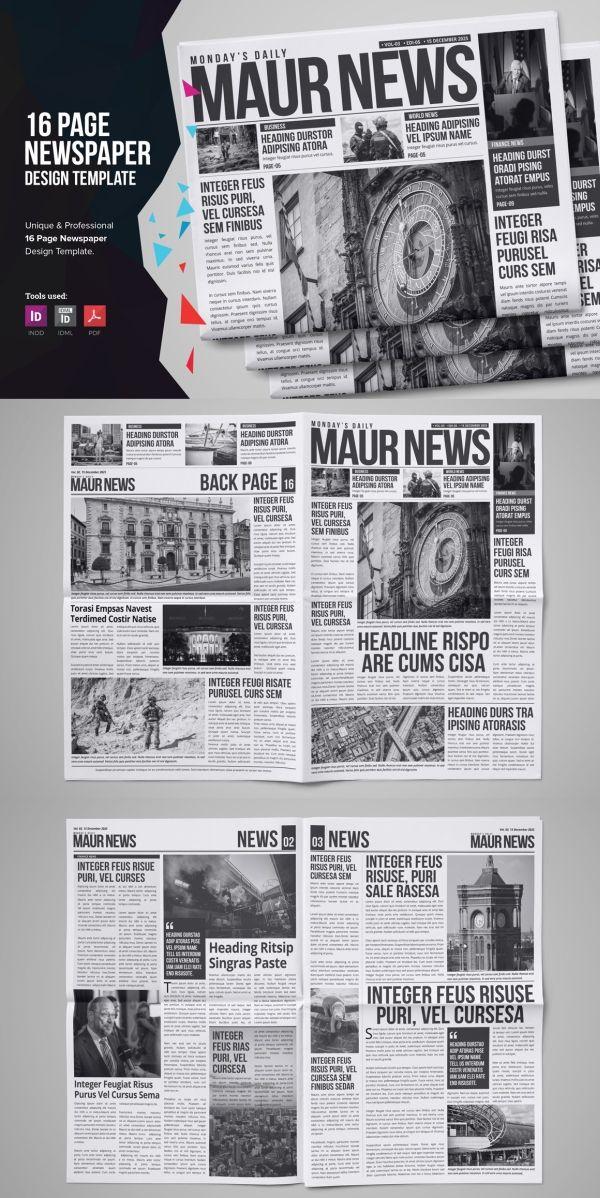 30 Professional Indesign Newspaper Templates Newspaper Template Design Indesign Newspaper Template Newspaper Template
