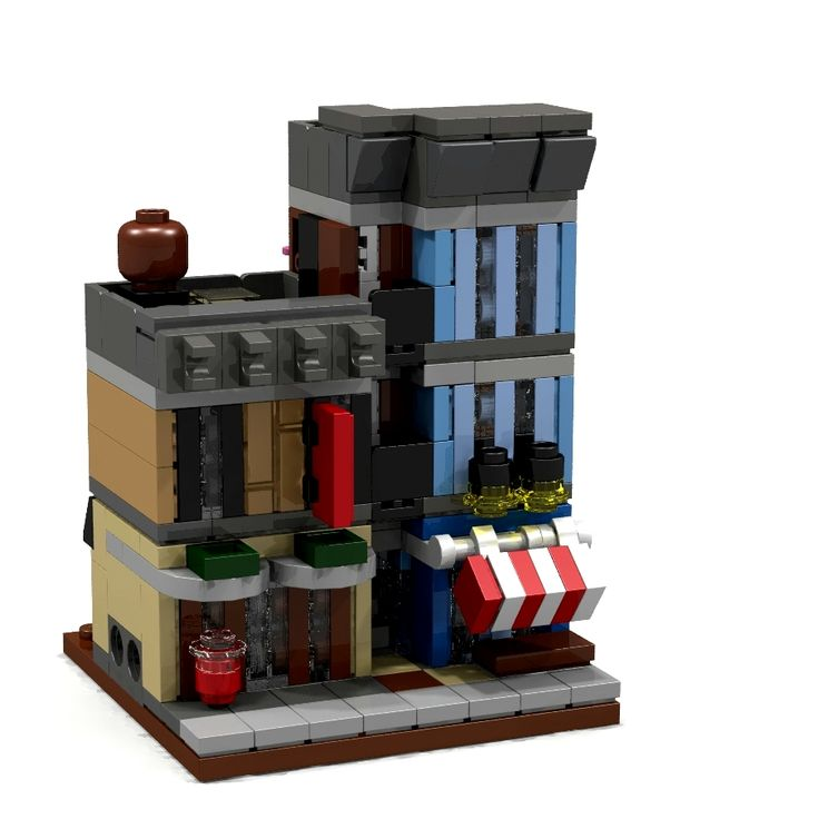 1073 best lego images on pinterest lego legos and fidget toys this is my mini modular version of the lego creator detectives office modular building malvernweather Image collections