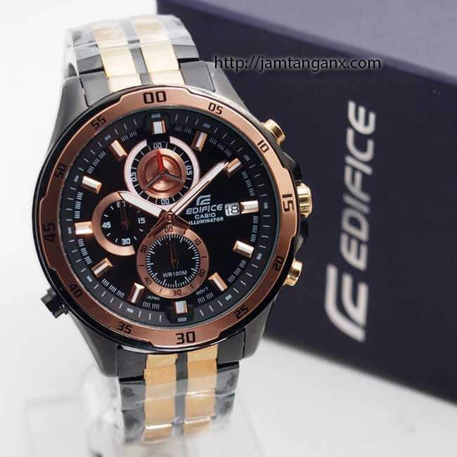 jam tangan edifice EFR-547 BKG Black Rose Gold