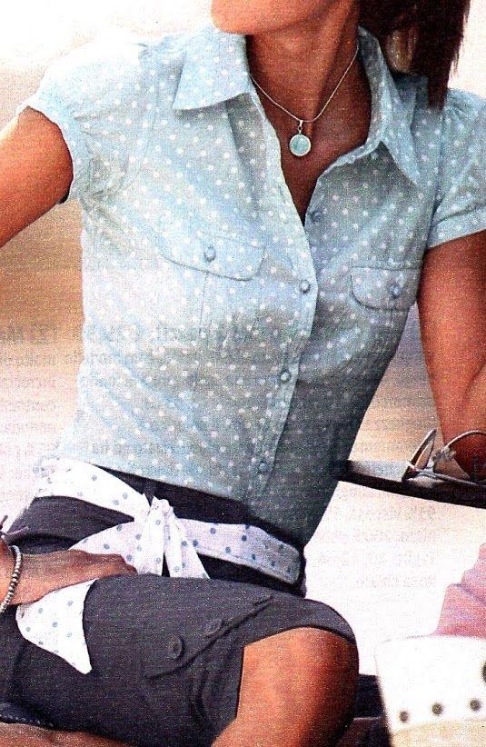 #Modest doesn't mean frumpy. #DressingWithDignity bonprix shirt camicetta a pois