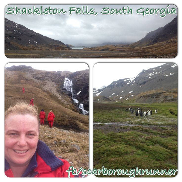 My goal for 2014 after hurting my knee was to do the Shackleton Falls walk in South Georgia.