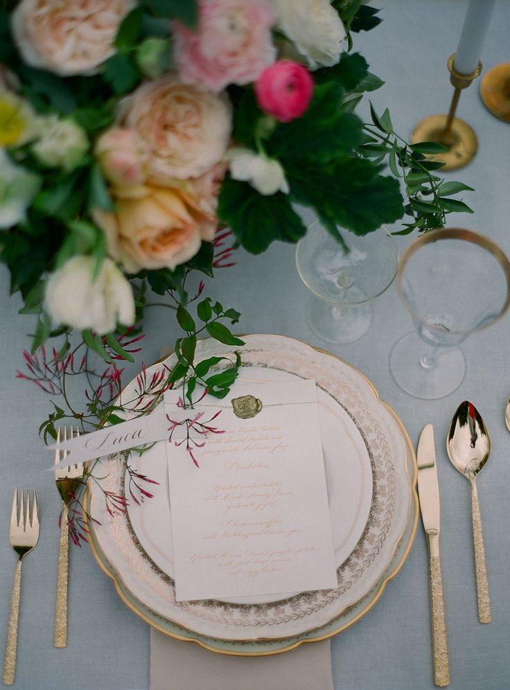 Classic And Stunning Tablescape | Photography: Carmen Santorelli  Photography   Carmensantorellistudio.com Read More Design Ideas