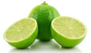 Ripe Sliced Lime Isolated on White Background