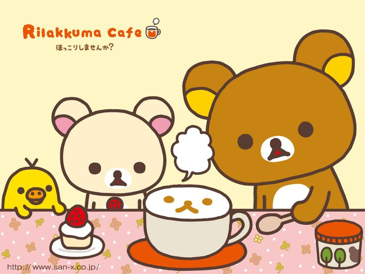 3. Rilakkuma Café wallpaper. Rilakkuma Wallpaper Cafe Classic San-X Kawaii ...    kawaiiwallpapers.com