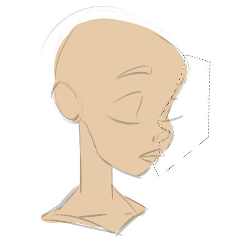 """Hi, thank you a ton for writing Soffia and for your kind words! I sometimes use the pen tool (e.g. when marking the nose and """"back part"""" of the face. I then put a darker gradient in - see photo)."""