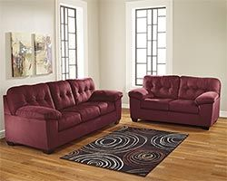 Sofa Beds Ashley Braelyn Burgundy Sofa and Loveseat